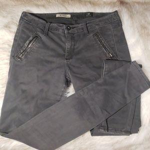 AG skinny pants gray velvety